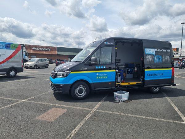 Hi Q Tyres Autocare Mobile Van at Mcdonalds