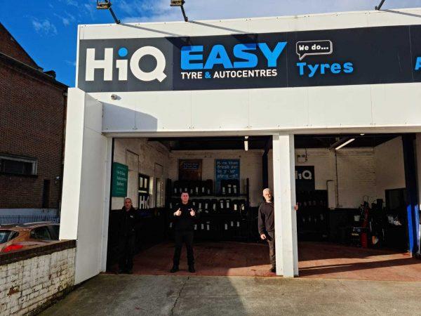 Hi Q Tyres Autocare Stafford exterior signage