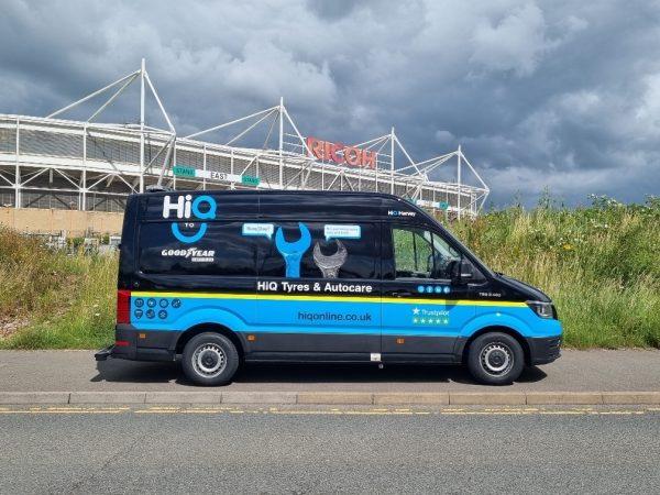 Hi Q2 U Mobile vans for Hi Q Tyres Autocare Coventry
