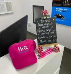 Project Pink Hat on Desk