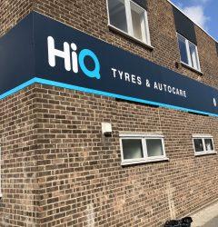 Hi Q Tyres Autocare Colchester exterior signage 2