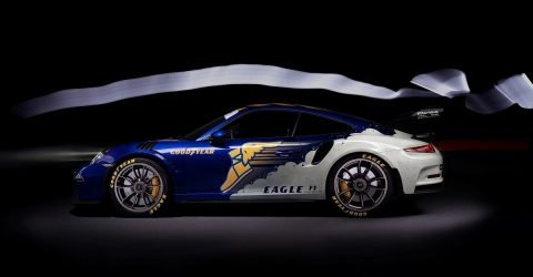 The Porsche GT3 RS meets the iconic Goodyear Wingfoot