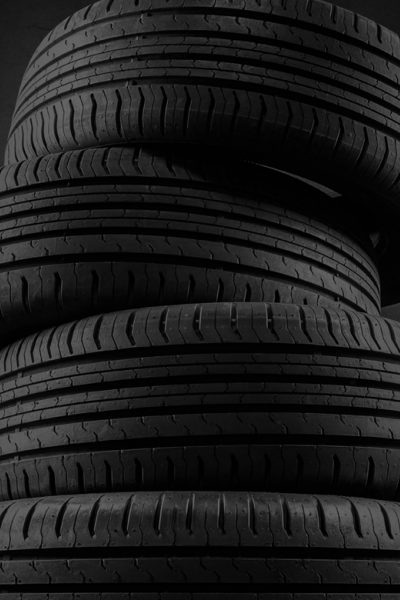 Stacked tyres hero