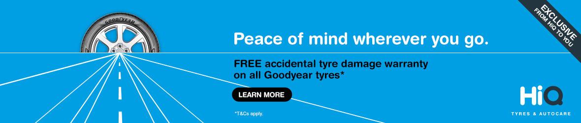 Goodyear Free Accidental Tyre Damage Warranty