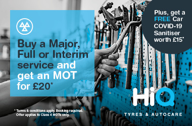 Buy a Major, Full or Interim Service. Get an MOT for £20.