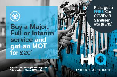 Buy a Major, Full or Interim Service.