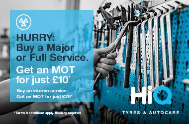 Buy a full service. Get an MOT FOR £10