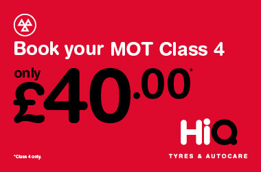 Book your MOT today for £40.