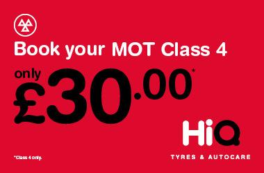 Book a Class 4 MOT today for £30.