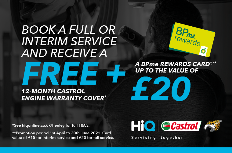 BOOK A FULL OR INTERIM SERVICE AND RECEIVE A FREE 12-MONTH CASTROL ENGINE WARRANTY COVER*