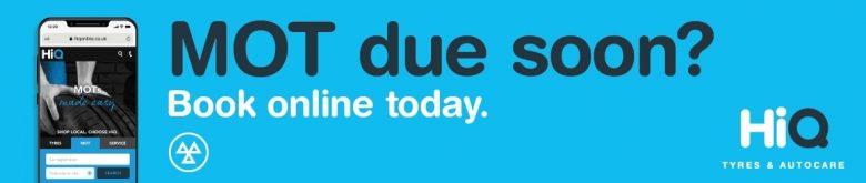 MOT due soon? Book online today.