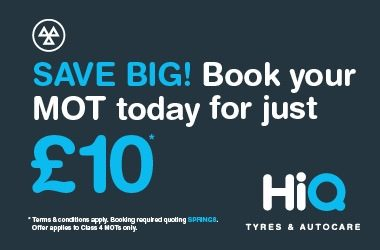 SAVE BIG! Book your MOT today for just £10*