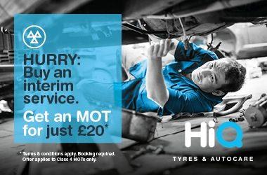 Buy an Interim Service. Get an MOT for just £20.
