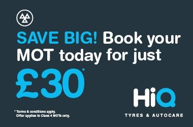 Book your MOT today for just £30.