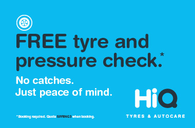 Free tyre and pressure check.